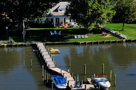 Annapolis area waterfront with dock - Shady Side - Casa
