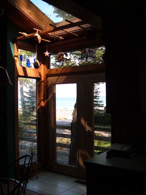 French doors to  front deck