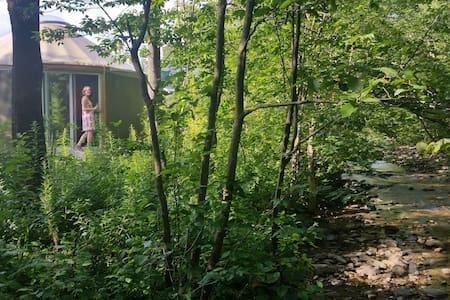 Yourte écolo4-saisons,puits lumière - Bolton-Ouest