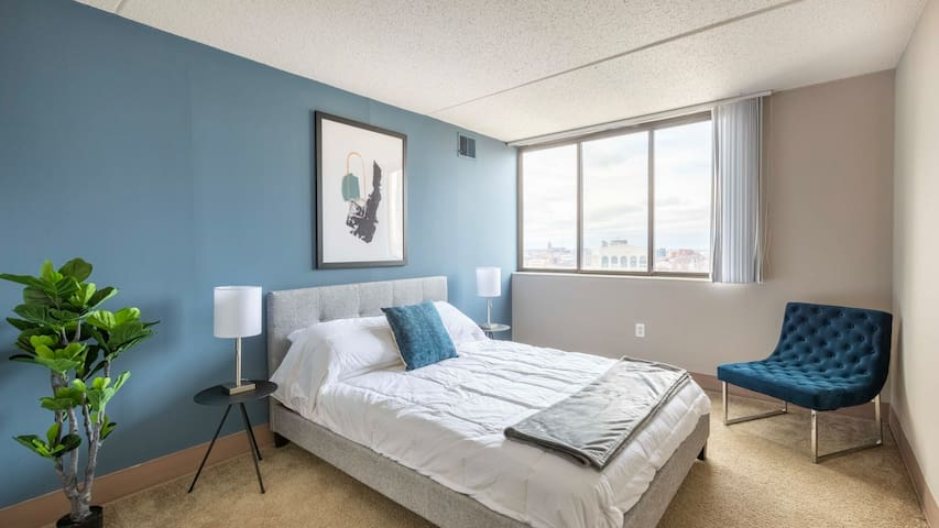 Admire one-of-a-kind views in this 1BD condo in downtown Detroit