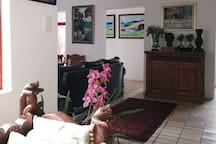 Open plan shared living space.  Free WiFi