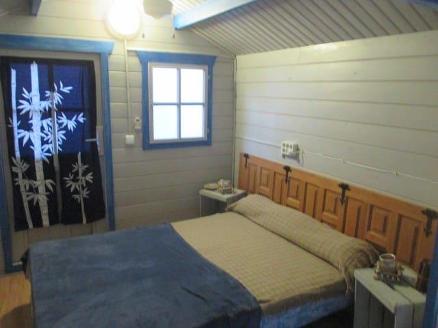 cabaña de madera en jardin - Foia Blanca - Casa