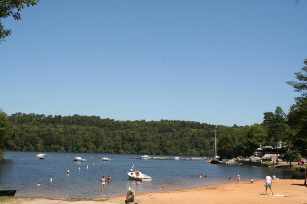 The lake beach at Anse De Sordan