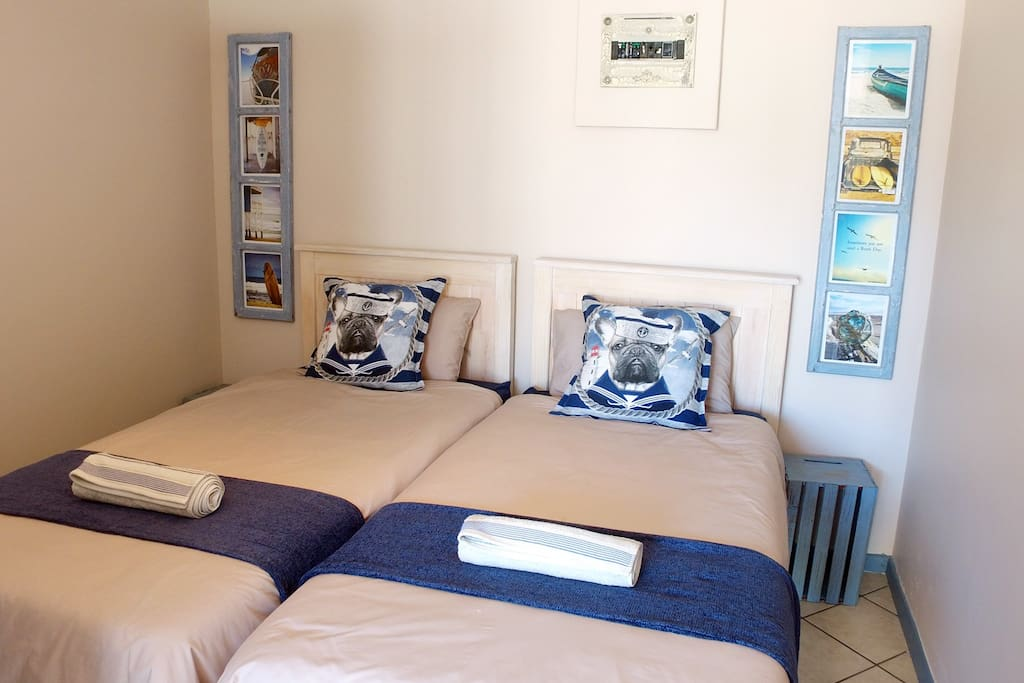Twin beds perfect for 2 friends or a couple.