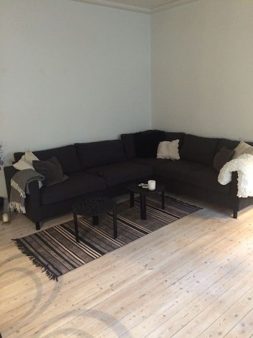 Nice area with huge couch to relax