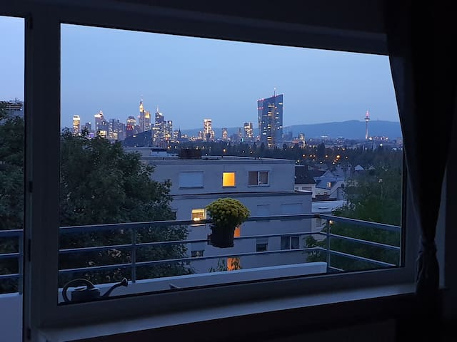 Cozy Appartment with Skyline view of Frankfurt