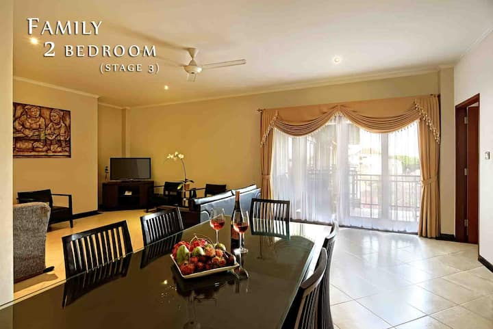 Family 2 Bedroom @Heart Of Kuta