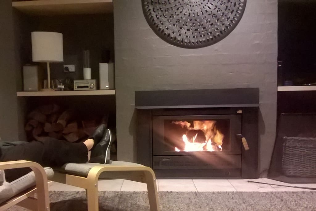 New slow combustion fireplace