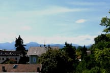 Stadtoase, Idyll mit Alpenblick