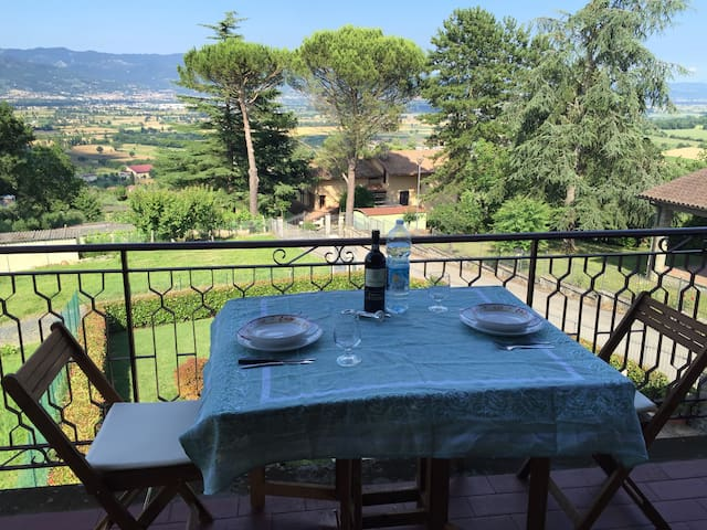 Anghiari , Tuscany apt with views - Anghiari - Appartement en résidence