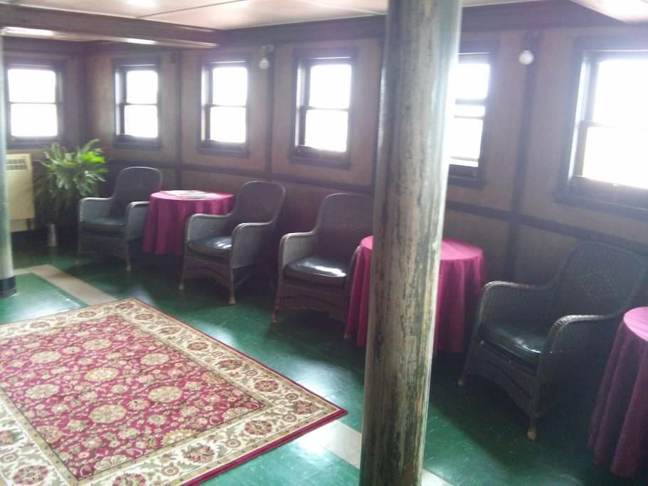 one of the common areas on the ship.