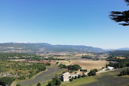 Mobilhome à la ferme indépendant - Lavande Ventoux