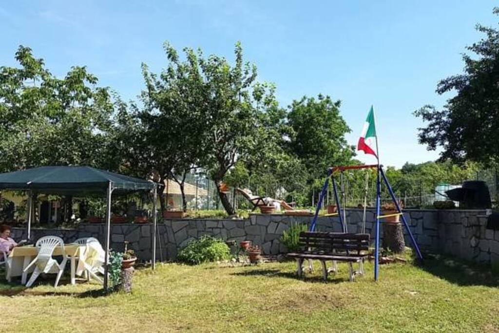 Casa per ferie Pallavicino (Cantalupo Ligure) - panoramica giardino