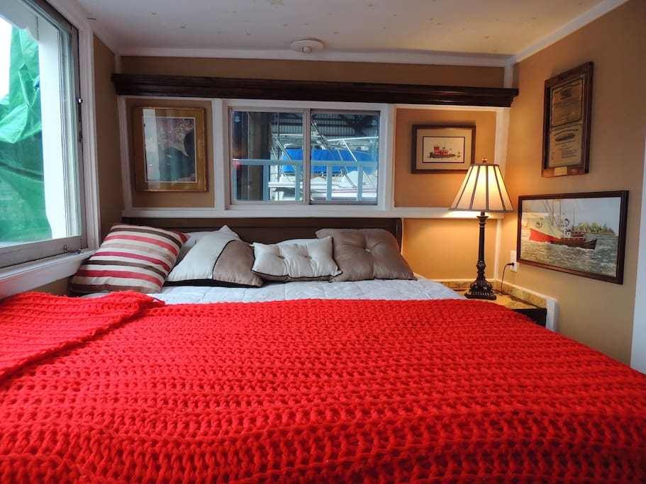 Your private, warm and comfortable stateroom with high quality bed linens.
