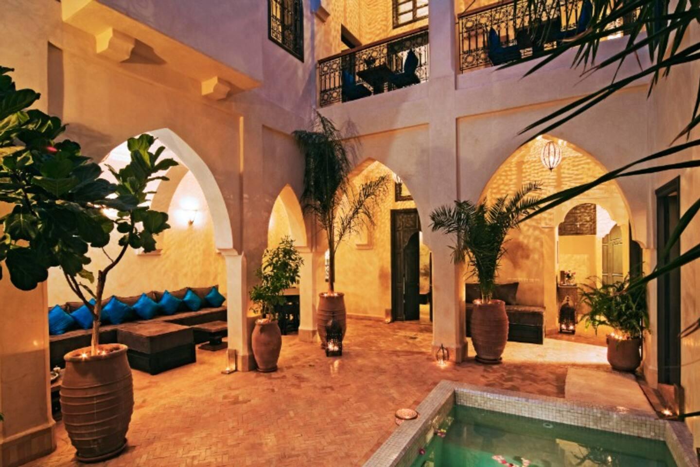 Riad Cinnamon patio and pool