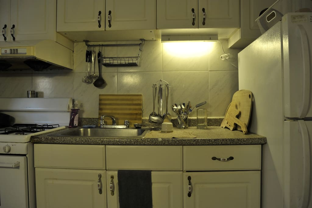 The kitchen area (no heavy cooking)