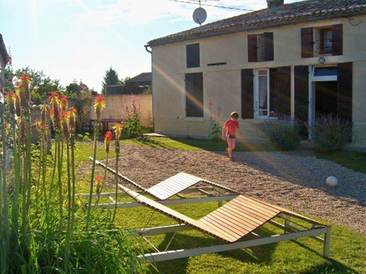 La Fermette - farmhouse in the evening sun