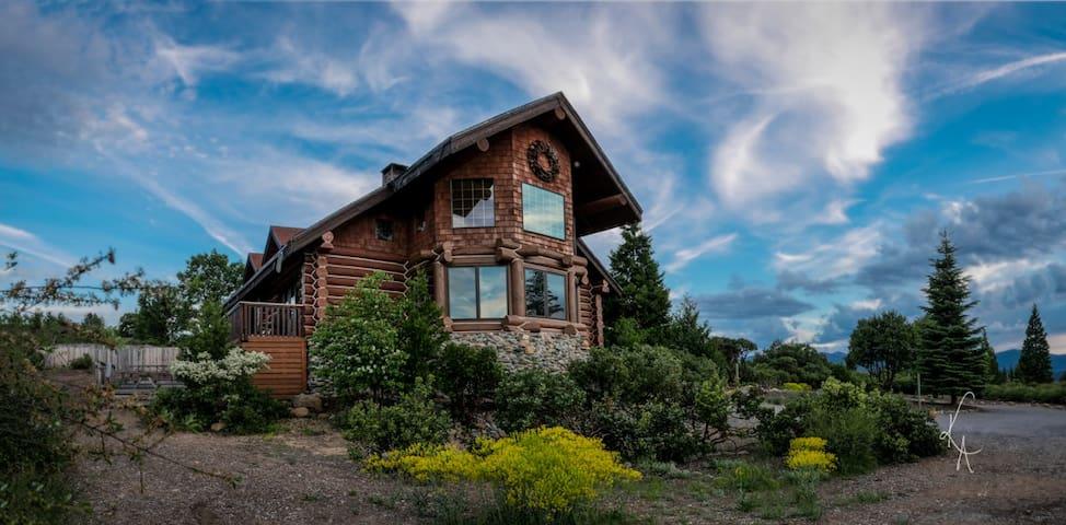 Custom built log cabin-Mount Shasta