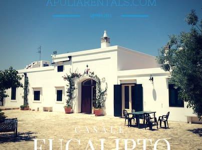 Eucalipto Farmhouse Near the Sea! - Sant'Antonio D'ascula - Huvila