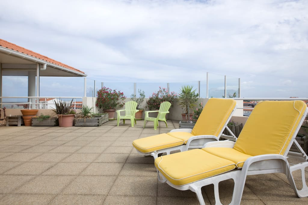 Penthouse Terrasse et Vue mer Flats for Rent in Biarritz