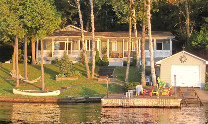 Beautiful modern  waterfront cottage.  Pigeon Lake