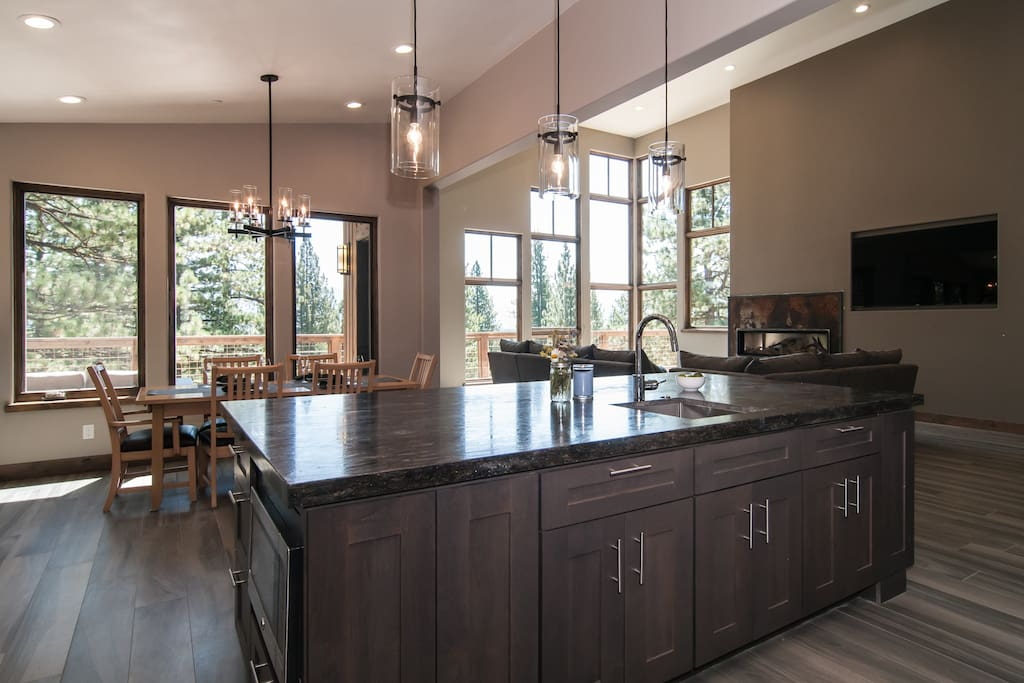 Gourmet kitchen for cooking and enjoying meals