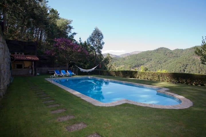 Casa do Cruzeiro - Piscina e Vista Rio - Gerês - Hus