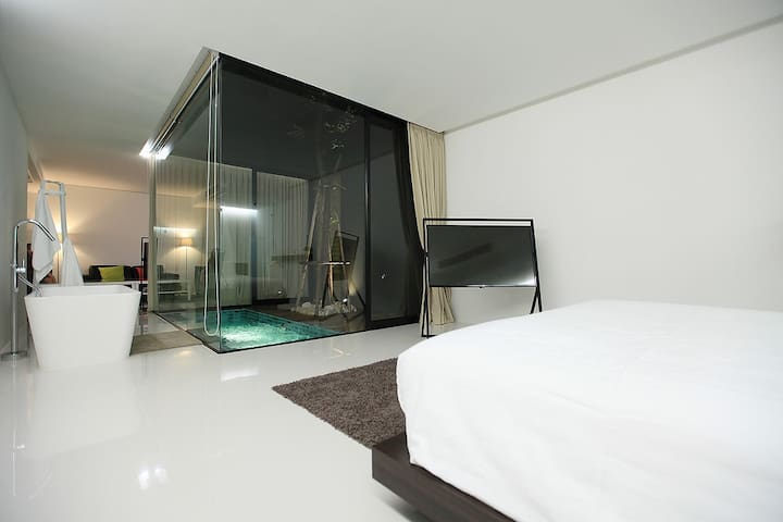 Luxurious Room @ the Qresidences - Bangkok - Apartment