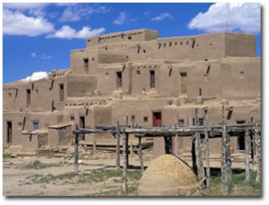 Taos Pueblo offers history and native dancing, pow wows and musical events.