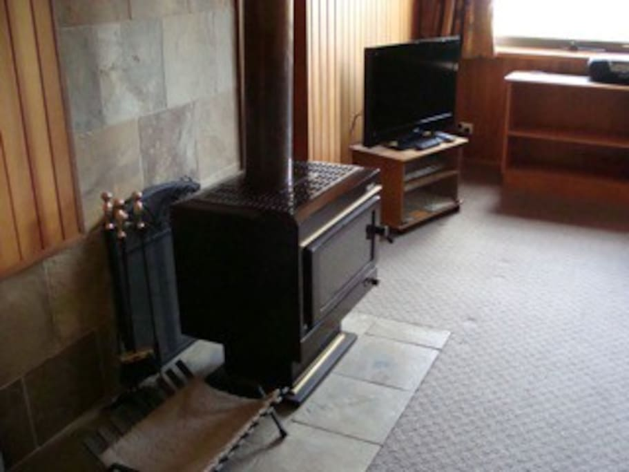 Fireplace, Flat screen TV, and electric heating