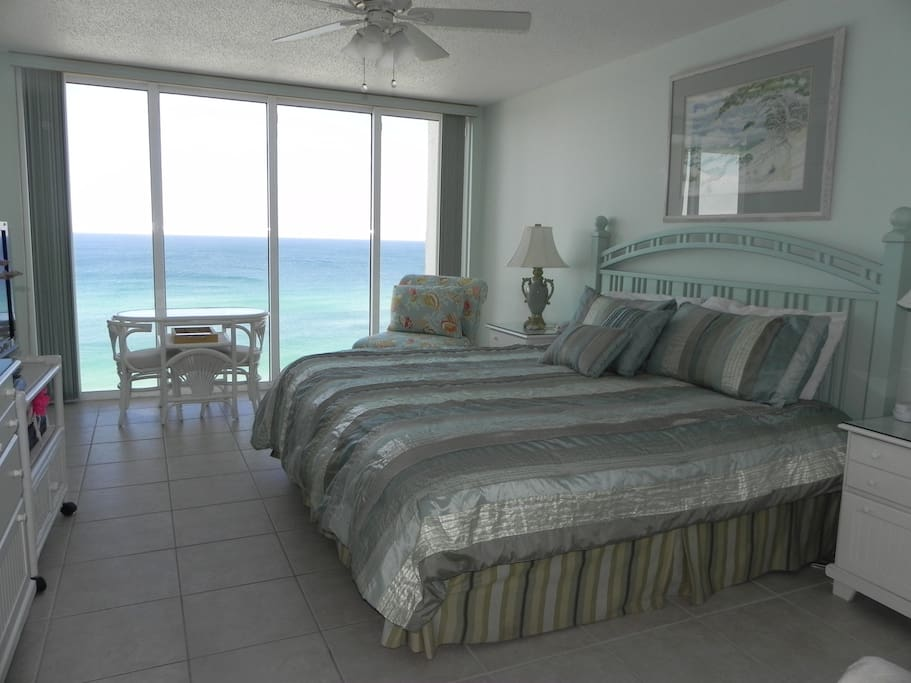 Master Bedroom with Large HDTV, Cable, DVD and Ocean View