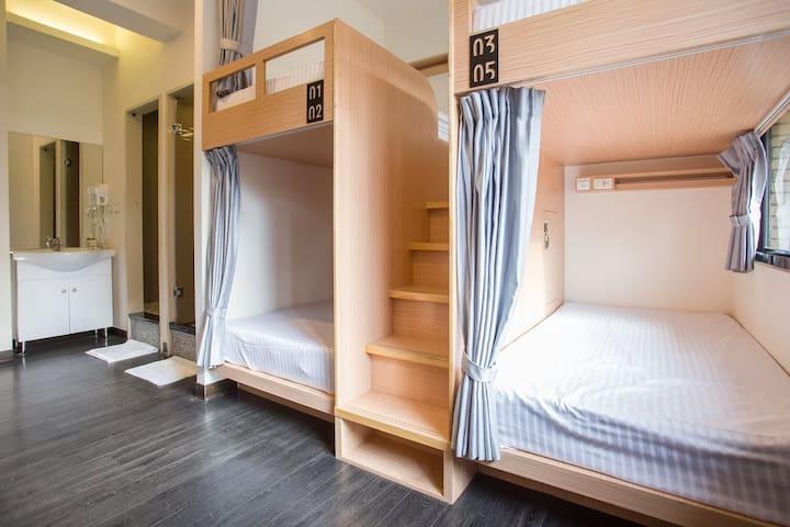 台北西門町3分鐘  8-10  人混合住宿床位房