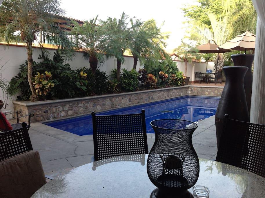 Large pool, just steps away
