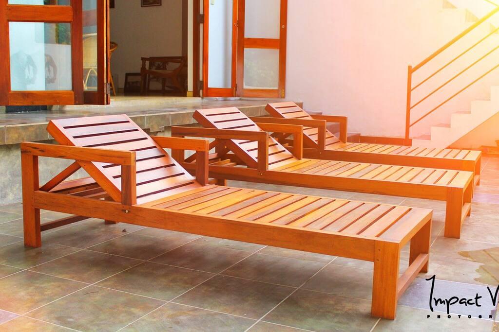 Place to sunbathe