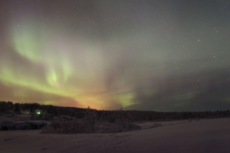 Aurora from the ski track
