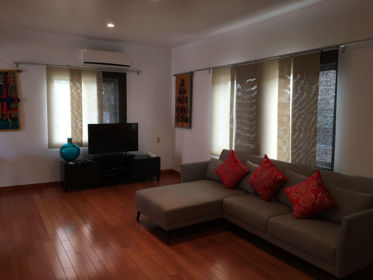 Living Room hard wood floors