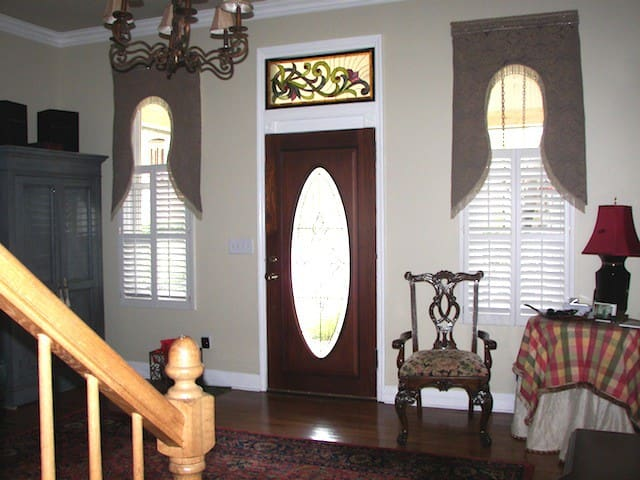 The entry way ~ you enter and go straight upstairs to the totally private guest suite.