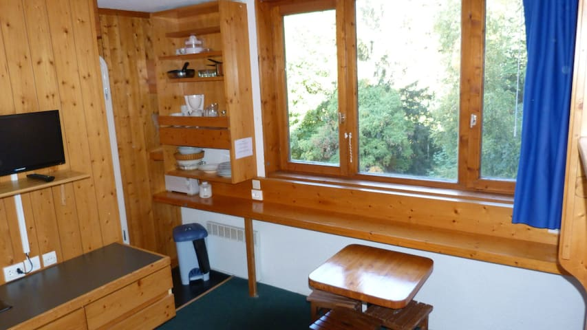 Studio for 2 persons in Arc 1800 close to the slopes, the shops, the ski school and the day nursery in Les Villards area