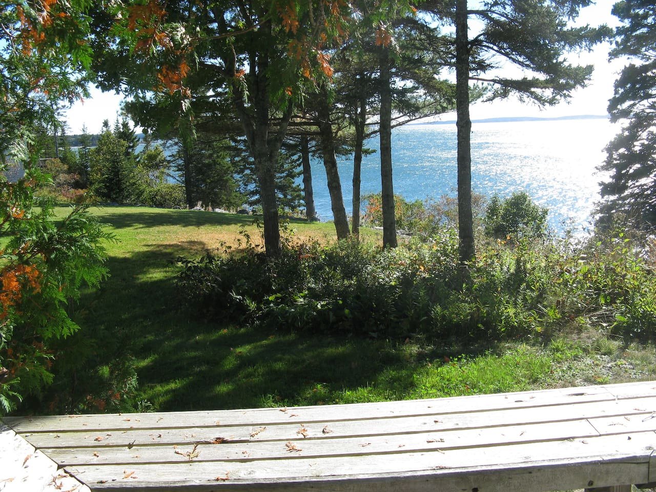 View from Deck at Cedarledge Cottage