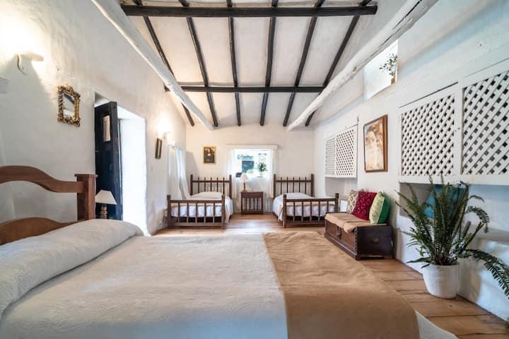 Habitación-Bella casona colonial con manantial VI
