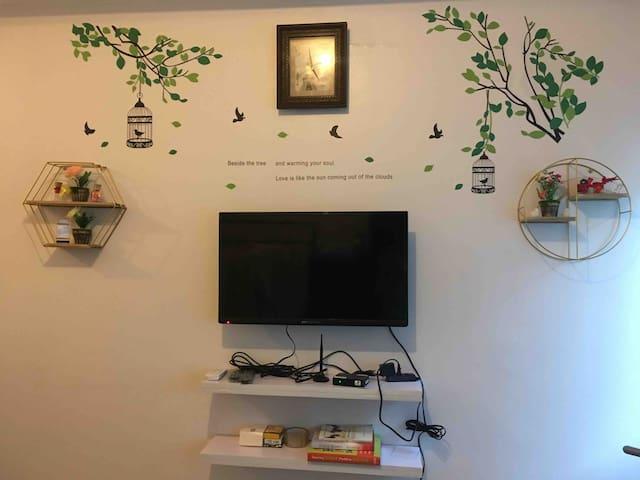 Studio type room with PLDT homefiber