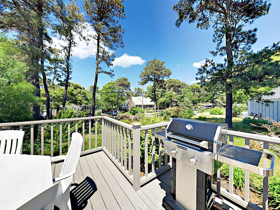 Spend time together on the large deck and host a family cookout.