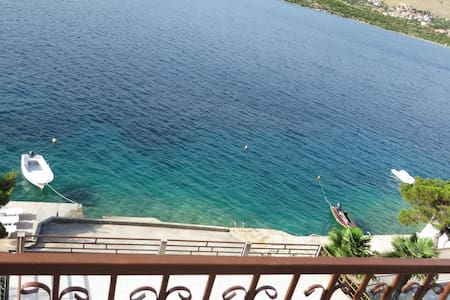 Seafront apartment with private beach - Grebaštica
