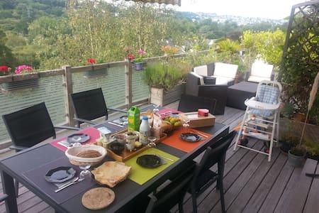 Les Hauts de Poulduic 2 - Quimper - Ergué-Gabéric - ที่พักพร้อมอาหารเช้า