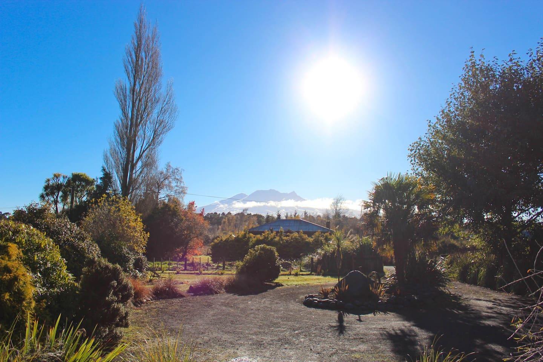 Beautiful winters morning looking at Mt Ruapehu