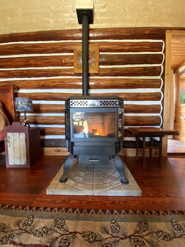 New addition of Ashley pellet stove! Oh, so warm and cozy!