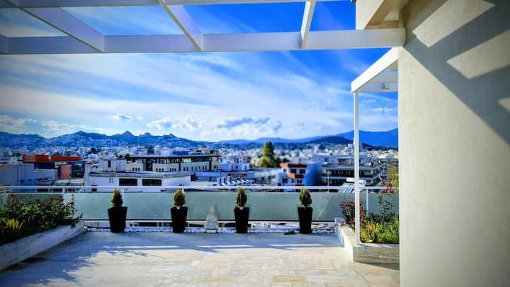 Πολυτελές Ρετιρέ με Πανοραμική Θέα  & Roof Garden