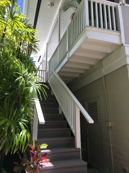 Stairs up to unit.