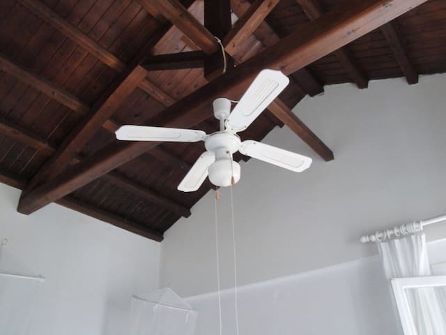 Fans in the bedrooms
