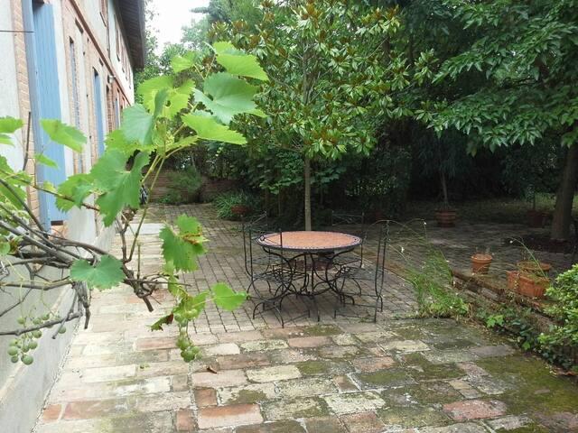 Grande chambre ds maison de charme, sdb privée - Toulouse - Talo